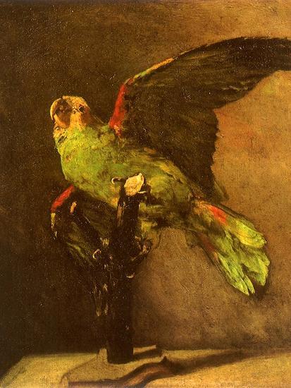 Green Parrot on Perch, 1886-Vincent van Gogh-Giclee Print