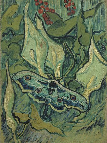 Green Peacock Moth (The Emperor Mot), 1889-Vincent van Gogh-Giclee Print