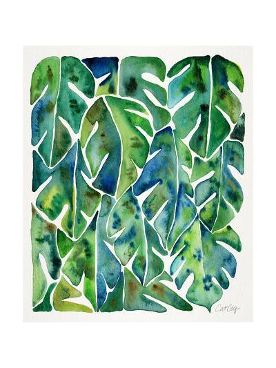 Green Philodendron-Cat Coquillette-Giclee Print