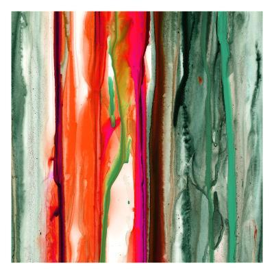 Green Pink Drips B-Tracy Hiner-Premium Giclee Print