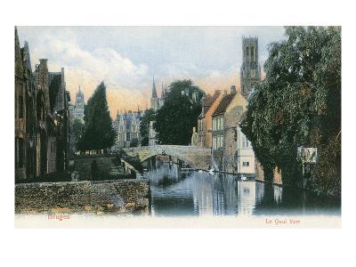 Green Quay, Bruges, Belgium--Art Print