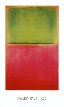 Green, Red, on Orange-Mark Rothko-Art Print