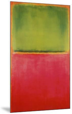 Green, Red, on Orange-Mark Rothko-Mounted Print