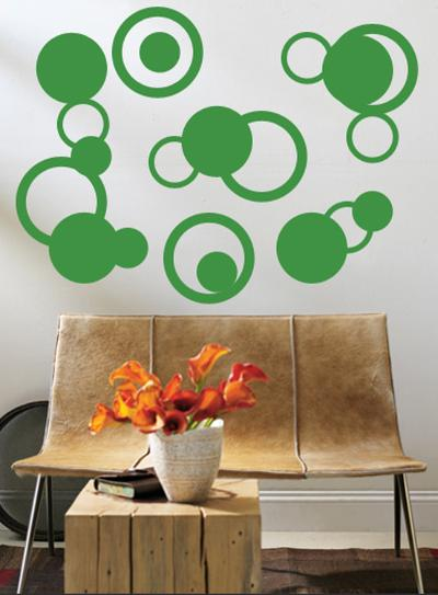 Green Rings--Wall Decal
