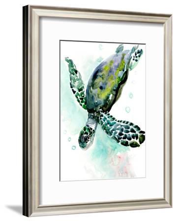 Green Sea Turtle-Suren Nersisyan-Framed Art Print