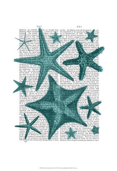 Green Starfish Collection-Fab Funky-Art Print