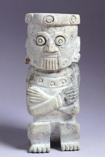 Green Stone Anthropomorphic Figurine Originating from the Temple Mayor of Tenochtitlan--Giclee Print