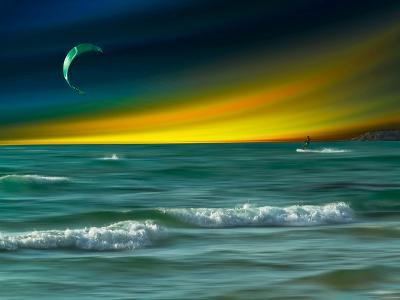 Green Surfer-Josh Adamski-Photographic Print