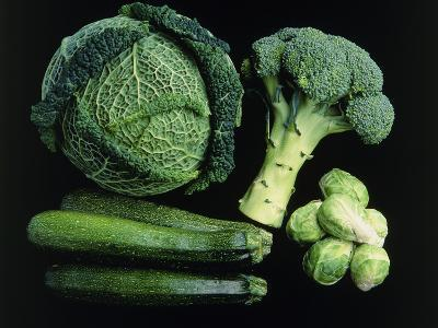 Green Vegetable Selection-Damien Lovegrove-Photographic Print