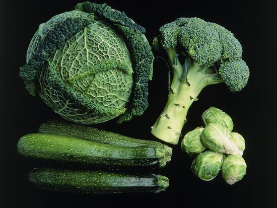 Green Vegetable Selection-Damien Lovegrove-Photographic Print