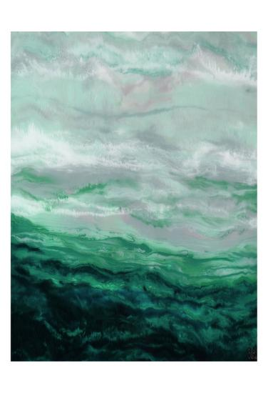 Green Waterfall I-Beverly Dyer-Art Print
