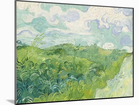 Green Wheat Fields, Auvers, 1890-Vincent van Gogh-Mounted Giclee Print