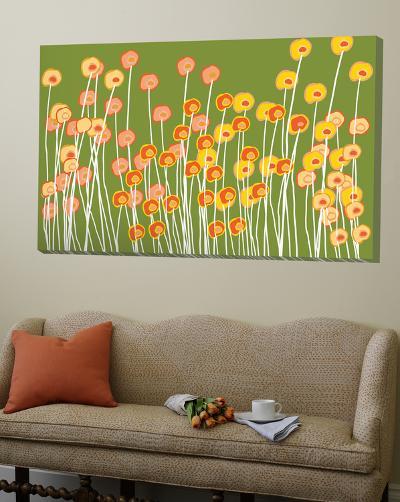 Green Wild Flowers-Avalisa-Loft Art