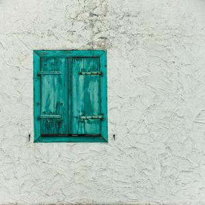 Green Window with Closed Shutter, Baden-Wurttemberg, Germany