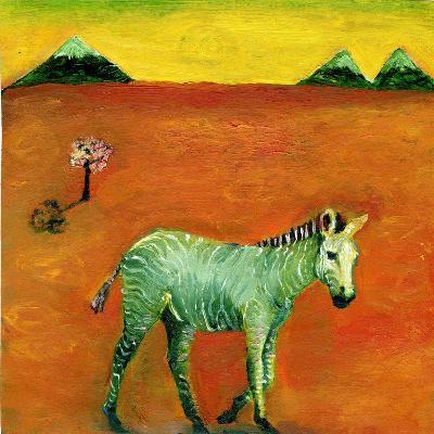 Green Zebra and Cherry Tree, 2005-Gigi Sudbury-Giclee Print