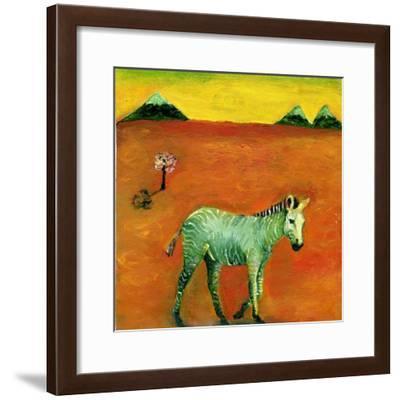 Green Zebra and Cherry Tree, 2005-Gigi Sudbury-Framed Giclee Print