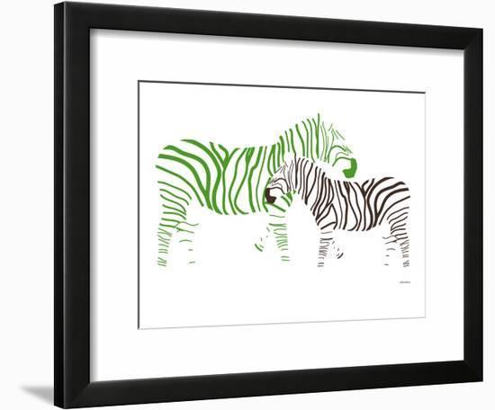 Green Zebra-Avalisa-Framed Art Print