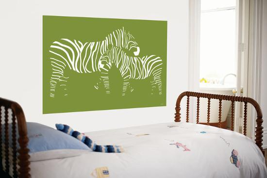Green Zebra-Avalisa-Giant Art Print