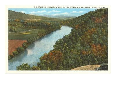 Greenbrier River, White Sulphur Springs, West Virginia--Art Print