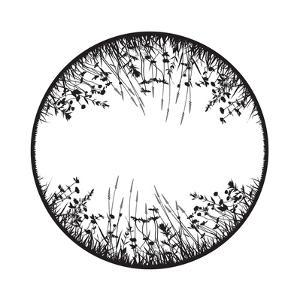 Floral Design Element with Wild Grass, Herbs and Flowers by greenga
