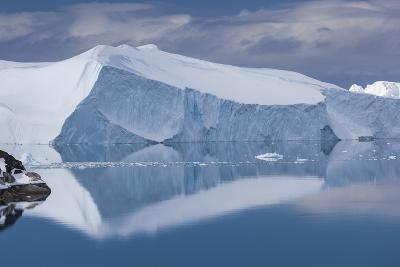 Greenland, Disko Bay, Ilulissat, Elevated View of Floating Ice-Walter Bibikow-Photographic Print