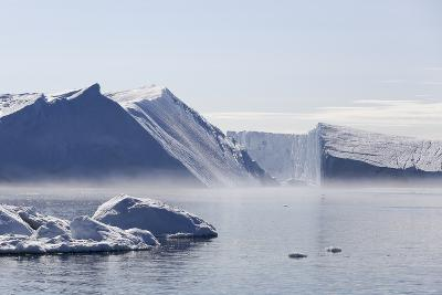 Greenland, Ilulissat Icefjord, Tabular Icebergs and Sea Water-Aliscia Young-Photographic Print