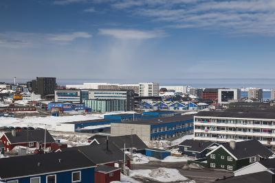 Greenland, Nuuk, Elevated Skyline View-Walter Bibikow-Photographic Print