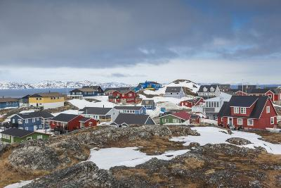 Greenland, Nuuk, Kolonihavn Area, Residential Houses-Walter Bibikow-Photographic Print