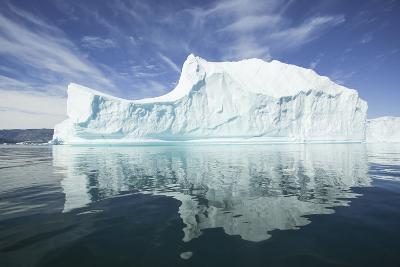 Greenland, Scoresby Sund, Red Island, Large Iceberg in a Small Ripple of Water-Aliscia Young-Photographic Print