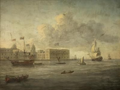 Greenwich Hospital, Off Which Lies the Royal Yacht--Giclee Print