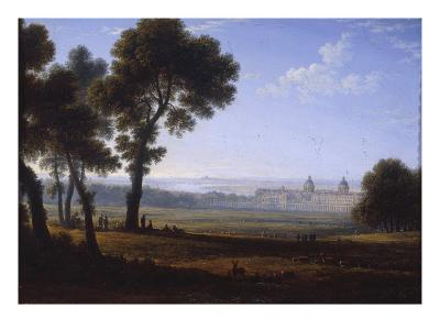 Greenwich Looking Towards the Thames-John Glover-Giclee Print