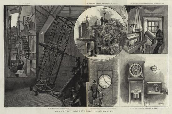 Greenwich Observatory Illustrated--Giclee Print