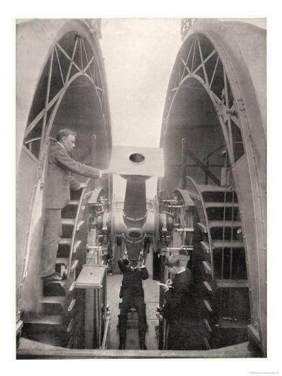 Greenwich Observatory the Astronomer Royal Mr. Frank Dyson Taking a Reading with an Altazimuth--Giclee Print
