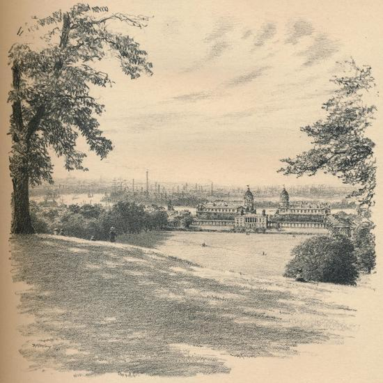 Greenwich Palace from Observatory Hill, 1902-Thomas Robert Way-Giclee Print