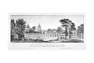 Greenwich Park, Greenwich, London, 1835-Chapman & Co-Giclee Print