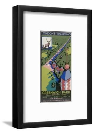 Greenwich Park, London County Council (LC) Tramways Poster, 1932