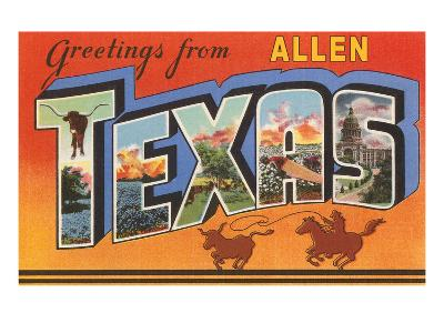 Greetings from Allen, Texas--Art Print