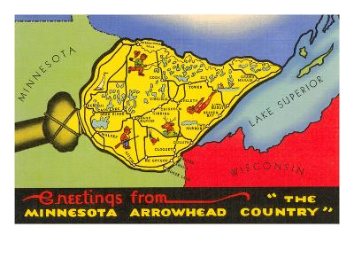 Greetings from Arrowhead Country--Art Print