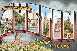 Beautiful austin tx artwork for sale posters and prints art greetings from austin capitol of texas m4hsunfo