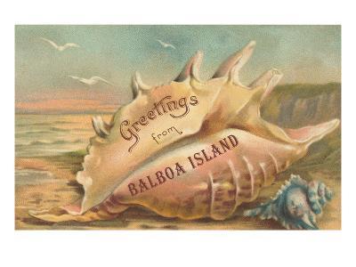 Greetings from Balboa Island, California--Art Print
