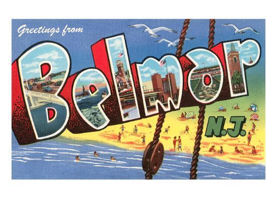 Greetings from Belmar, New Jersey--Art Print