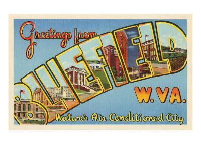 Greetings from Bluefield, West Virginia--Art Print
