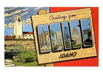 Greetings from Boise, Idaho--Art Print