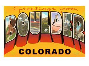 Greetings from Boulder, Colorado
