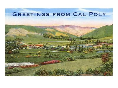 Greetings from Cal Poly, San Luis Obispo--Art Print