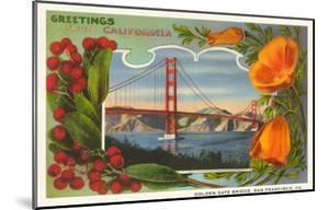Beautiful greetings from california specialty artwork for sale greetings from california with golden gate bridge and poppies m4hsunfo