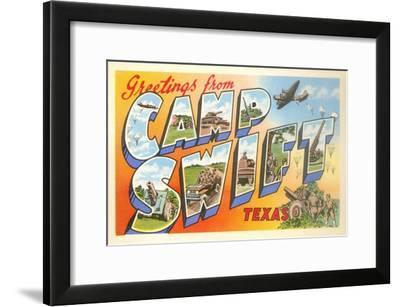 Greetings from Camp Swift, Texas--Framed Art Print