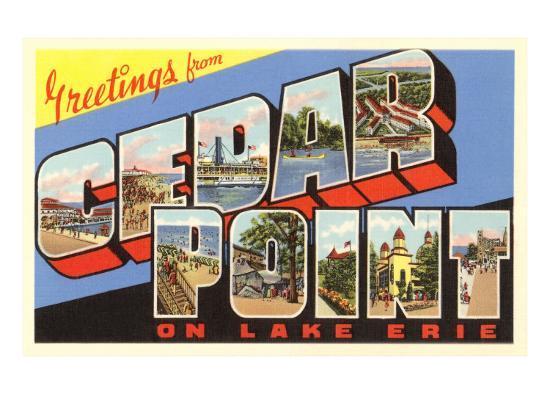 Greetings from Cedar Point, Ohio--Art Print