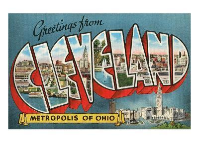 Greetings from Cleveland, Ohio--Art Print