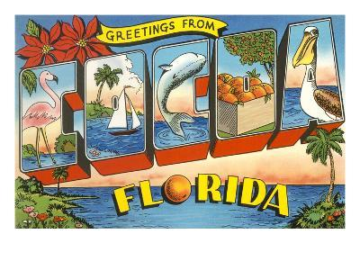 Greetings from Cocoa, Florida--Art Print